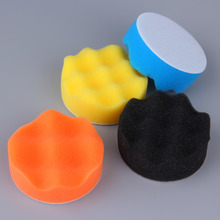 "10 Pieces Car Styling Gross Wash Pad Set 4"" Buffing Pad Kit with 3 Pads 1 Backing Plate 5 Sanding Paper and 1/4"" Drill Adaptor"