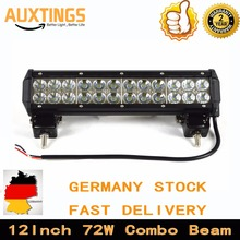 "DE STOCK! FREE SHIPPING 12""Inch 72W COMBO led lightbar off road light in automotive 4x4 led light bar(China)"
