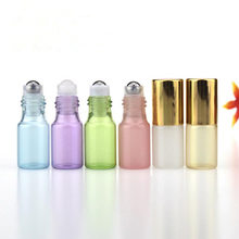3ml 5ml Glass Roll On Bottle Perfume Glass Vials Essential Oil Bottle with Stainless Steel Roller Ball F20171284(China)