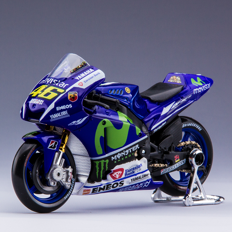 Brand New Motorcycle Models MOTO GP YZF-M1 46# 99# 1:18 scale Alloy motorcycle racing motorcycle model Toys Kids Gift Model Toys(China (Mainland))