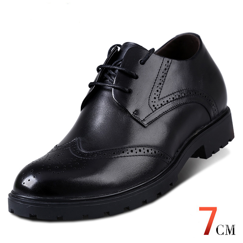 Fashion Elevator Shoes Calf Leather Mens Invisible Height Increasing Dress Formal Wedding Shoes for Man Get Taller 7cm Instantly<br><br>Aliexpress
