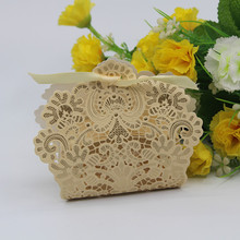 20 X Wedding Candy Box Champange/Gold/Red/White/Blue Laser Cut Wedding Favor Boxes Casamento Wedding Favors Gifts(China)