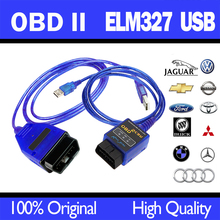 new! OBD2/OBDII ELM327 USB For Audi VW OBD 2 SCAN Cable Diagnostic Scan Tool Interface(China)