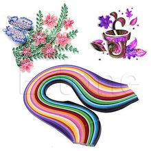 260 X Colorful Quilling Paper Origami Paper DIY Hand Craft Tool paper 3/5/7/10mm Width Craft DIY Paper Gift 26 colors