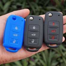 Silicone Rubber key fob skin cover case set VW POLO Bora Beetle Tiguan Passat B5 B6 Golf 4 MK5 6 Jetta Eos Remote Protected