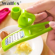 WALFOS BRAND 1 piece Kitchen Tool Grinding Mill Ginger Garlic Crusher Creative Multifunction Device Garlic Press Garlic Peeler