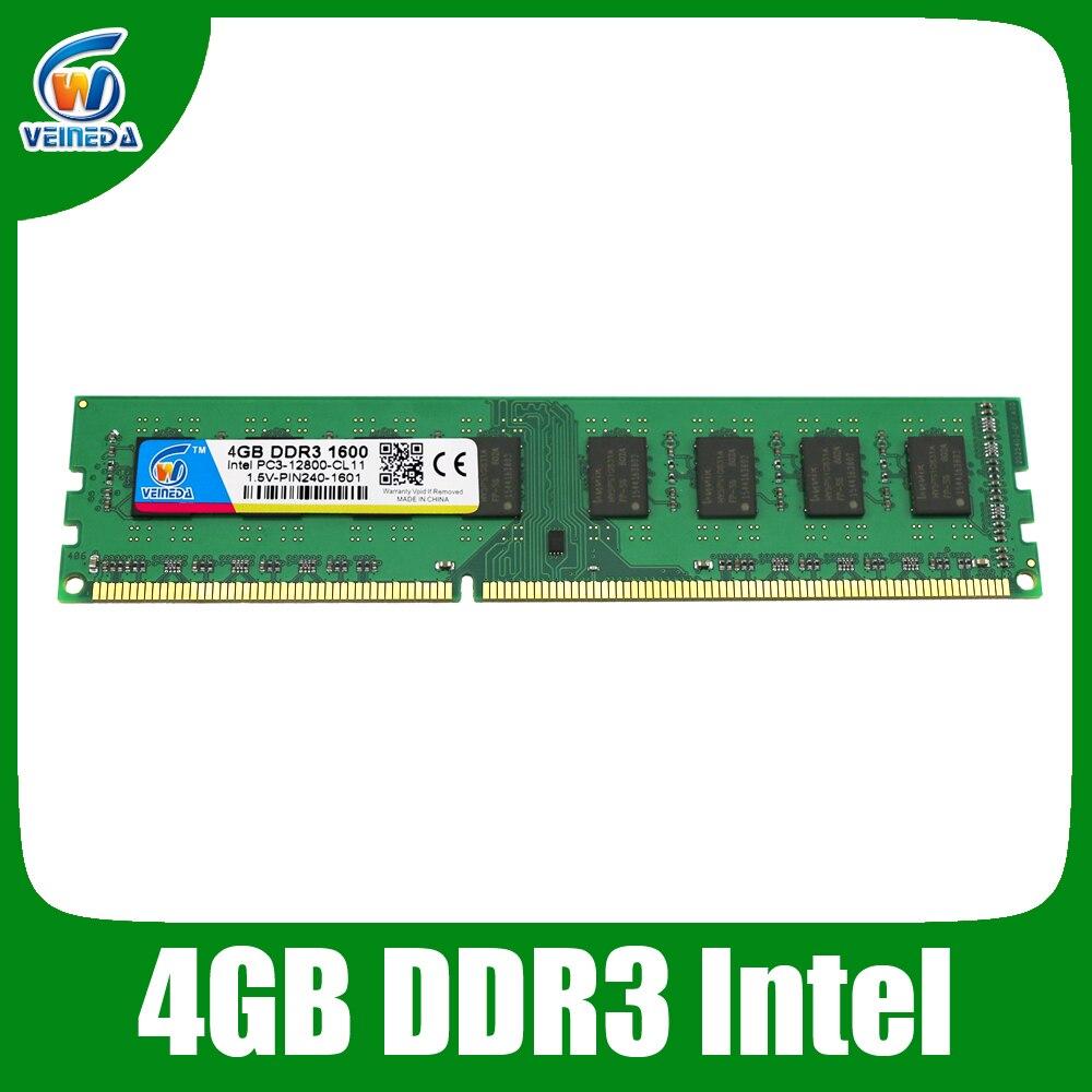 Dimm Ram ddr3 4gb ddr3-1600/1333/1066 compatible all Intel AMD Desktop  240pin Lifetime Warranty<br><br>Aliexpress