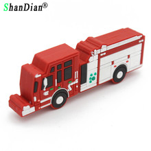SHANDIAN New arrival car model pendrive 8GB 16GB 32GB Fire Fighting Truck model USB flash drive Pen drive memory stick U disk