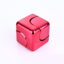 Fidget Cube ABS electroplating 3x3x3cm Fidget Cube Spinner relief toy Adults Kids Gift EDC for ADHD Funny Finger Toys