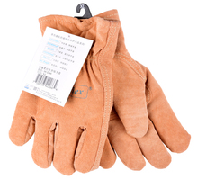 warm winter leather work gloves thermal breathable pigskin leather cold proof cotton sweat absorbing oil pollution safety glove(China)