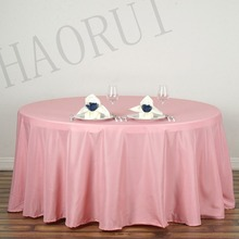10pcs Customize Table Cover Polyester Cotton Fabric 108''Round Pink Luxury Dining Tablecloth Wedding Party Banqut FREE SHIPPING