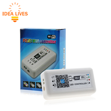 RGB WiFi Led Controller DC12-24V With 21Key RF Remote Control For RGB LED Strip Light / Panel Light / Ceiling Lamp(China)