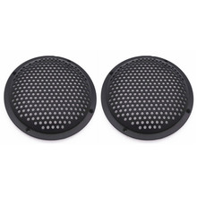2Pcs 5Inch Speaker Cover Subwoofer Audio Speakers Protective Net Tweeter Grille Plastic Mesh Speaker Protection Network