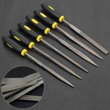 6pcs Carbon Steel Square Round Triangle Flat Needle Files Jewelers Diamond Wood Carving Craft Tool CLH@8(China)