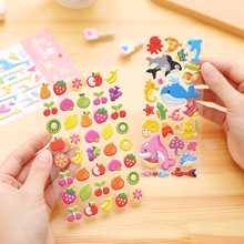 2 PCS Kawaii Cartoon 3D Bubble Stickers DIY Diary Scrapbook Notebook Album Cup Phone Decor Sticker Stationery School Supplies