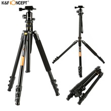 K&F CONCEPT KF-TM2324 Professional Digital/Video Camera Tripod Portable 4-Sections Tripods With Ball Head+Bag For Canon Nikon(China)