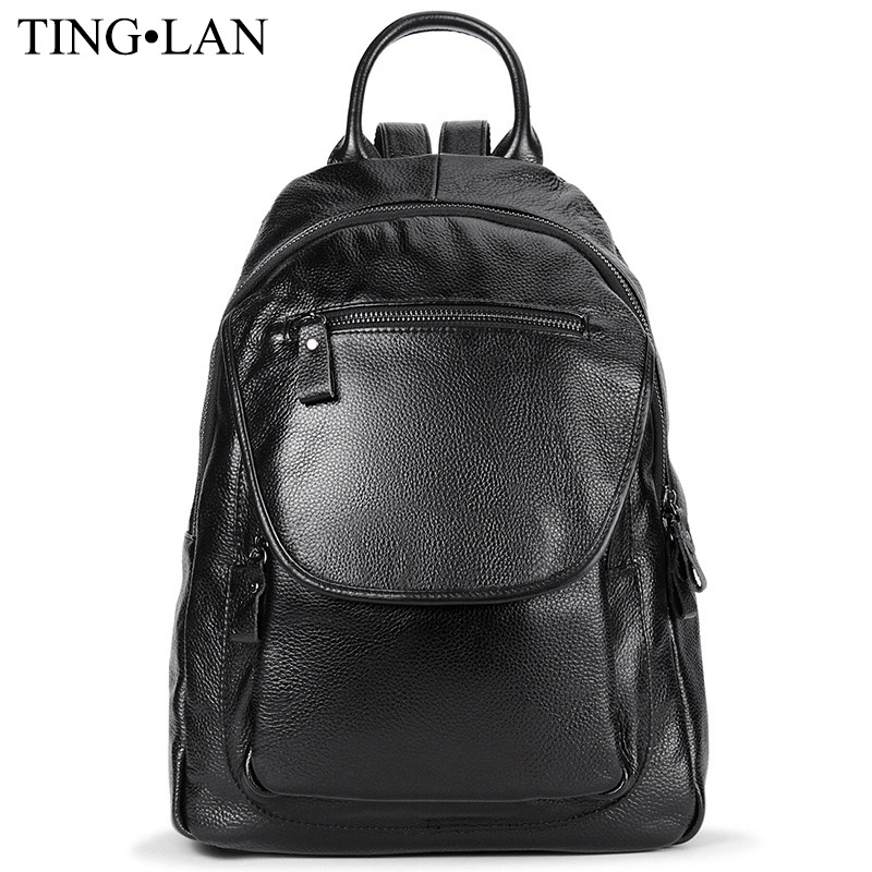 Fashion Women Backpacks Genuine Leather Ladies Backpacks For Girls School Bag Black Real Leather Backpack High Quality Mochilas<br><br>Aliexpress