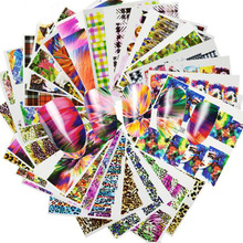 2017 Mixed 48 Designs Nail Art Sticker Sexy/Cute Colorful Full Decals DIY Water Transfer for Foils Polish Manicure A097-144(China)