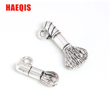 HAEQIS New Vintage Alloy Makeup Brush Charms Cosmetics Tool Charms 50pcs AAC002(China)