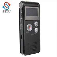 Situ brand Best 8GB Mini Digital Audio Voice Recorder Dictaphone MP3 Player Recording Pen Recorder Pen Rechargeable(China)