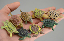 The simulation of marine animal model toy turtle cute no smell