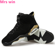Men and Women AIR Basketball Shoes Neutral Outdoor Sneakers Camping Trainer Waterproof Air Cushion Shoes High Boots Zapatos(China)