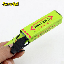 Surwish April Fool's Day Prank Trick Toy Shocking Cockroach Chewing Gum Pull Head Spoof Toy - Random Delivery(China)