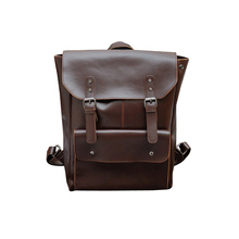 New New Leather backpack men vintage backpacks, new korean fashion retro crazy horse leather bag men's backpacks(China)