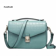 ForUForM Women small Flap handbags Women genuine Leather Commuter Office tote bag Women's Pouch Bolsas Famous Ladys bag-SLI-155