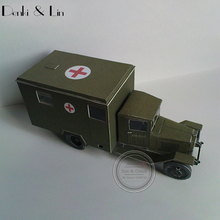 1:43 3D 14 X 6cm Soviet Zis-44 Battlefield Ambulance Army Truck Paper Model Second World War Assemble Hand Work Puzzle Game(China)