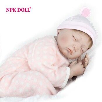 22 pulgadas NPK Muñeca Dormir Recién Nacido Bebés Reborn Doll Realistas de Silicona Renacer Baby Doll Para Niñas Moda Boencas Juguete