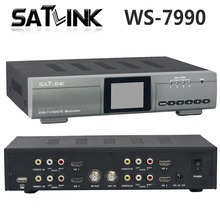 Original Satlink WS-7990 4 Route DVB-T Modulator AV HD Four Router DM Modulator DVB-T AV HD Satlink 7990 Digital RF Modulator(China)