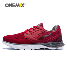 Onemix Latest lifestyle running shoes for mens summer cool walking sneakers sport shoe man breathable mesh outdoor fitness
