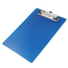 SOSW-Office A5 Paper Holding File Clamp Clip Board Blue(China)