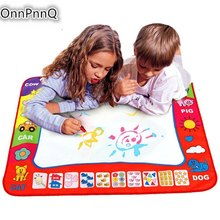 Kids Water Drawing Painting Writing Toys Doodle Aquadoodle Mat Magic Pens 80X60cm Children Drawing Board+2 Water Drawing Pen
