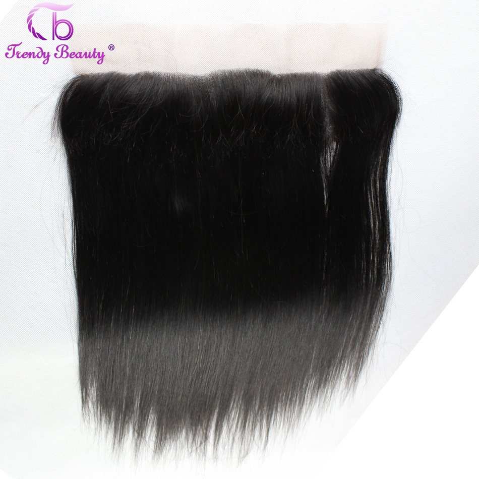 [Trendy Beauty Hair] Lace Frontal Indian Straight Human Hair 13*4 Ear to Ear Frontal Pre Plucked 12-20 inch Remy Hair