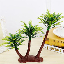 Artificial Coconut Palm Tree Micro-Plastic Landscape Sandbox Style Palm Island Artificial Plant Decoration Artificial Coconut Pa