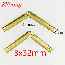 50PCS 3 x 32mm 3mm Brass Barrel Hinge Round Cylindrical Hidden Cabinet Hinges Concealed Invisible Mortise Mount Hinge(China)
