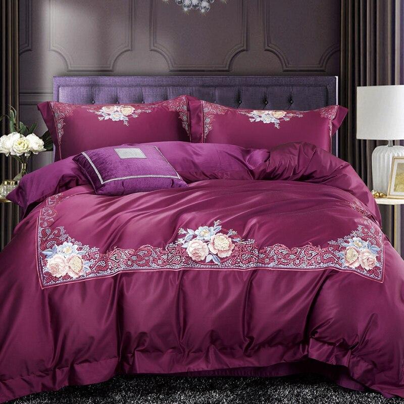 Großhandel Violet Luxus Europäischen Stil Stickerei Ägyptischen Coon ...
