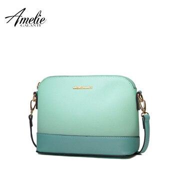 AMELIE GALANTI новые моды вестник мешки для женщин известный дизайн небольшая сумка твердой оболочки твердого лоскутное весна лето