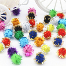 20MM 100PCS Christmas hat decoration Children's educational toys Manual materials wholesale Multicolor glitter powder wool ball
