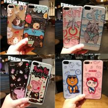 Buy New cute Cartoon bear Pig funny cat Cases iPhone 7 6 6s Plus PC Silicon Hard Case iPhone 8 7 Cell Phone Back Cover for $3.89 in AliExpress store