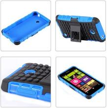 For Nokia Lumia 630 Case Shock Proof Armor Case Stand Hybrid Defender Phone Case Cover For Lumia 635 630 Housing Case Fundas