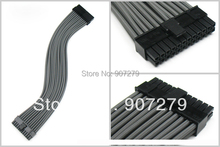 motherboard 24 PIN three braid extension power core/cable 18AWG with grey sleeving --- 400mm