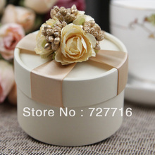 10PCS/LOT PAPER gift box champagne Wedding Favor Boxes party candy box - Free shipping(China)