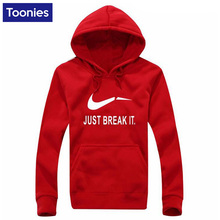 Toonies Brand Clothing Fleece Hoody Hooded Casual Men's Hoodies Sweatshirts Just Break it Letter Print 2017 Sportswear 5 Color