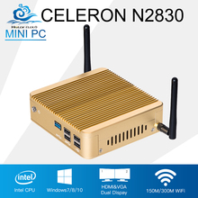 Customizable Mini PC Computer Intel Celeron N2830 Dual Core Windows 10/8/7 Linux Mini Computador Desktop Wifi HDMI HD TV Box(China)