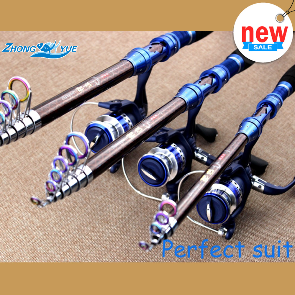 1.8-3.6M  Carbon Telescopic Fishing Rod And 7BB Spinning Fishing Reel Fishing Tackle Set Kit Vara De Pesca Perfect suit<br><br>Aliexpress