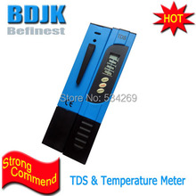 Brand New Blue Digital TDS Meters 0~9990ppm Tester with Temperature Display