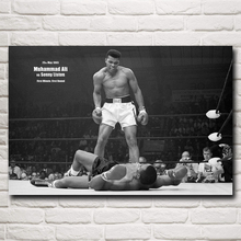 Muhammad Ali Boxer Champion Art Silk Poster Print Sports Pictures Home Decor 12x18 16X24 20x30 24x36 Inches Free Shipping(China)